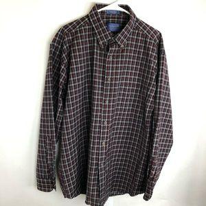 Vintage Sir Pendleton Button Shirt Plaid 100% Wool